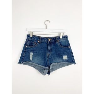 Refuge Distressed Cutoff Denim Shorts